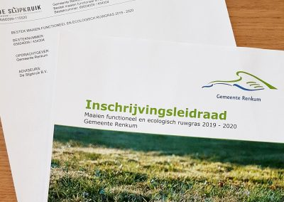 Directievoering diverse onderhoudsbestekken – Gemeente Renkum